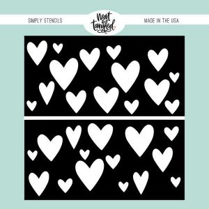 Neat & Tangled Heart Duo Stencil