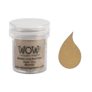 WOW! Metallic Gold Rich Pale Super Fine Embossing Powder class=