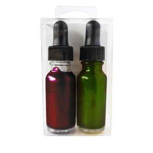 Hero Arts Green & Red Glimmer Metallic Inks class=