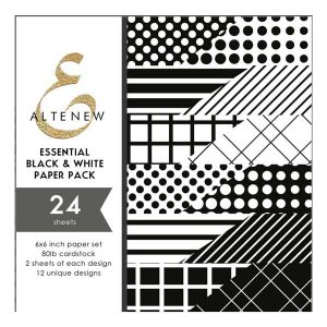 Altenew Essential Black & White 6x6 Paper Pack