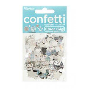 Darice Silver Metallic Confetti