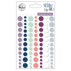 Pinkfresh Studio Indigo Hills 2 Enamel Stickers class=