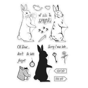 Hero Arts Coloring Layering Rabbit Stamp Set class=