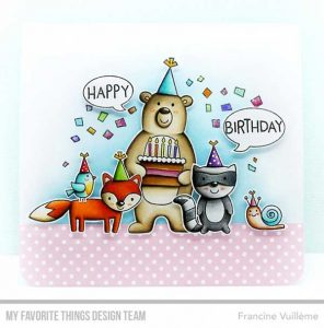 My Favorite Things Birthday Bear & Friends Stamp Set class=