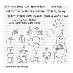 My Favorite Things Birthday Bear & Friends Stamp Set