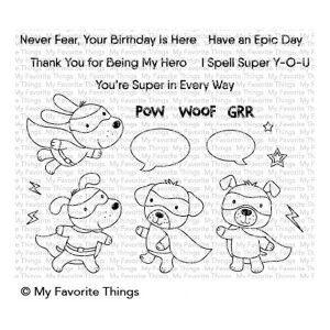 My Favorite Things Super Dog Stamp Set