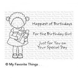 My Favorite Things Pure Innocence For the Birthday Girl Stamp Set