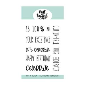 Neat & Tangled Piece of Cake Sentiments Stamp Set