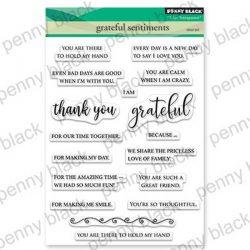 Penny Black Grateful Sentiments Stamp Set