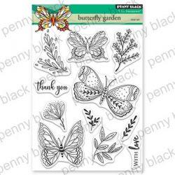Penny Black Butterfly Garden Stamp Set