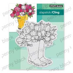 Penny Black Blooming Boots Stamp