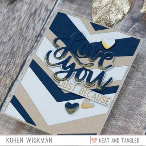 Neat & Tangled Wonky Chevron Cover Plate class=