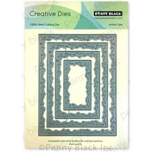 Penny Black Swirly Stitches Creative Dies