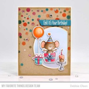 My Favorite Things Card Sized Confetti Stencil Set class=