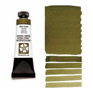 Daniel Smith 15ml Extra Fine Watercolor – Olive Green class=