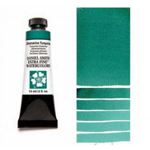 "Daniel Smith <span style=""color:orange;"">15ml</span>  Extra Fine Watercolor – Ultramarine Turquoise"