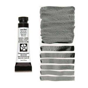 Daniel Smith 5ml Extra Fine Watercolor – Lunar Black class=
