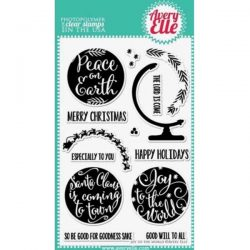 Avery Elle Joy To The World Stamp Set