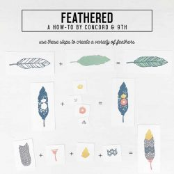 Concord & 9th Feathered Stamp Set
