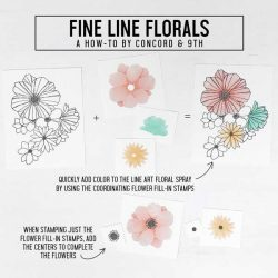 Concord & 9th Fine Line Florals Stamp Set