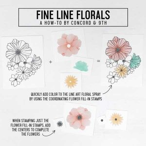 Concord & 9th Fine Line Florals Stamp Set class=
