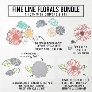 Concord & 9th Fine Line Florals Dies class=