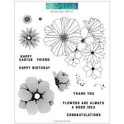 Concord & 9th Fine Line Florals Stamp Set