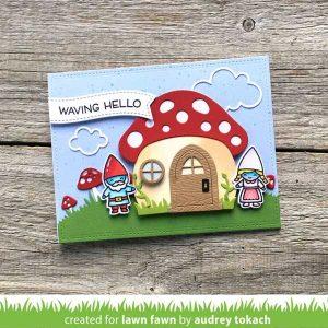 Lawn Fawn Mushroom House Lawn Cuts class=