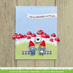 Lawn Fawn Mushroom Border Lawn Cuts class=