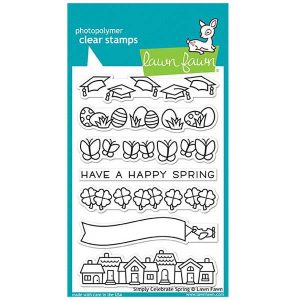 Lawn Fawn Simply Celebrate Spring Stamp Set