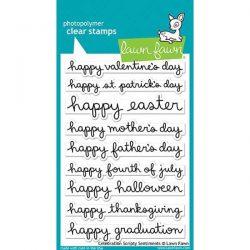 Lawn Fawn Celebration Scripty Sentiments Stamp Set