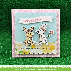 Lawn Fawn Wavy Sayings Stamp Set class=