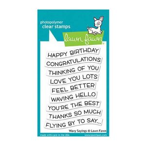 Lawn Fawn Wavy Sayings Stamp Set