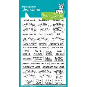 Lawn Fawn Reveal Wheel Spring Sentiments Stamp Set