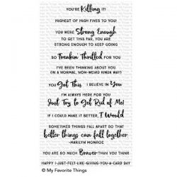 My Favorite Things Anything-but-Basic Encouragement Stamp Set