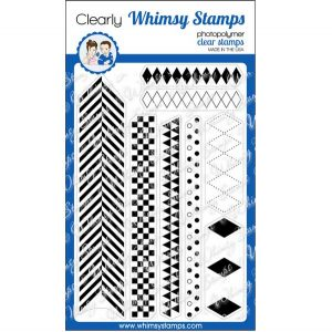 Whimsy Stamps Basic Backgrounds & Borders 2 Stamp Set