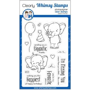 Whimsy Stamps Sketched Elephants Stamp Set