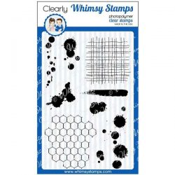 Whimsy Stamps Distressed Background and Ink Splats Stamp Set