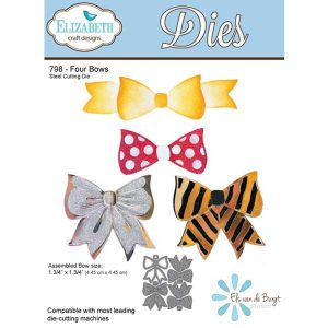 Elizabeth Craft Designs Four Bow Die Set