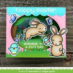 Lawn Fawn Shadow Box Card Spring Add-On Lawn Cuts