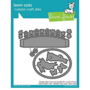 Lawn Fawn Shadow Box Card Spring Add-On Lawn Cuts