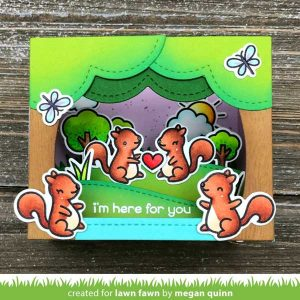 Lawn Fawn Shadow Box Card Park Add-On Lawn Cuts class=