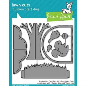 Lawn Fawn Shadow Box Card Park Add-On Lawn Cuts