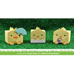 Lawn Fawn Tiny Gift Box Chick and Duck Add-On Lawn Cuts