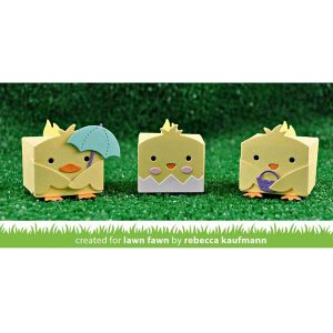 Lawn Fawn Tiny Gift Box Chick and Duck Add-On Lawn Cuts class=