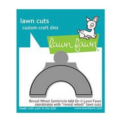 Lawn Fawn Reveal Wheel Semicircle Add-On Lawn Cuts