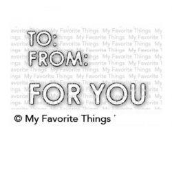 My Favorite Things Gifty Greetings Die-namics