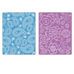Sizzix Textured Impressions Embossing Folders - Spring Flowers & Paisley