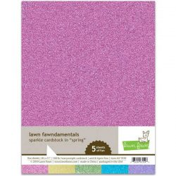 Lawn Fawn Sparkle Cardstock - Spring