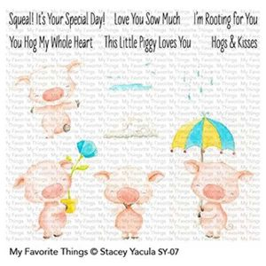 My Favorite Things Piggys Pebbles Stamp Set